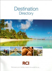 Timeshare marketing and fractional marketing we produced the RCI Destination Directory